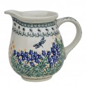 Polish Pottery DRAGONFLY 3.6-Cup Stoneware Pitcher | ARTISAN