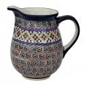 Polish Pottery INDIA 3.6-Cup Stoneware Pitcher | ARTISAN