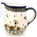 Polish Pottery WISHFUL 3.6-Cup Stoneware Pitcher | ARTISAN