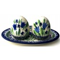 Pottery Avenue BLUE TULIP Salt And Pepper Set | UNIKAT