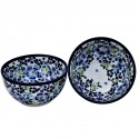 Polish Pottery TRUE BLUES 2-Cup Stoneware Cereal-Salad Bowl | ARTISAN