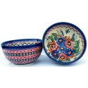 Polish Pottery BUTTERFLY MERRY MAKING 2-Cup Stoneware Cereal-Salad Bowl | UNIKAT