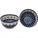 Polish Pottery DROPS OF JOY 2-Cup Stoneware Cereal-Salad Bowl | CLASSIC