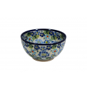 POLISH POTTERY STONEWARE TRUE BLUES CEREAL BOWL | ARTISAN