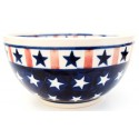 Polish Pottery AMERICANA 2-Cup Stoneware Cereal-Salad Bowl | CLASSIC