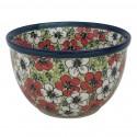 Polish Pottery RED BACOPA 4-Cup Stoneware Mixing Bowl | UNIKAT