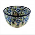 Polish Pottery TRUE BLUES 4-Cup Stoneware Mixing Bowl | ARTISAN