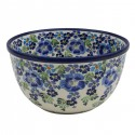 Polish Pottery TRUE BLUES 9-Cup Stoneware Mixing Bowl | ARTISAN