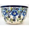 Polish Pottery TRUE BLUES 14-Cup Stoneware Mixing Bowl | ARTISAN
