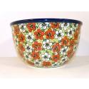 Polish Pottery RED BACOPA 14-Cup Stoneware Mixing Bowl | UNIKAT