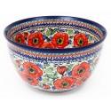 Polish Pottery BELLISSIMA 14-Cup Stoneware Mixing Bowl | EX-UNIKAT