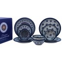 Pollsh Pottery SWEETIE PIE & SWEETHEART 12-Piece Designer Dinnerware Set | ARTISAN