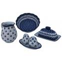 Polish Pottery FLOWERING PEACOCK COMBO 4-Piece Designer Essentials Kit   CLASSIC