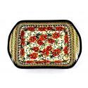 "Polish Pottery LOVE BLOSSOMS 12"" Stoneware Handled Rectangular Baker | EX-UNIKAT"