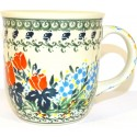 Polish Pottery DRAGONFLY 12-oz Stoneware Mug | ARTISAN