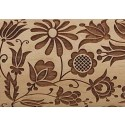 "10"" Embossing Rolling Pin Quilted Floral"
