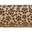 """10"""" Embossing Rolling Pin Dog Park"""