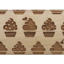 """4.5"""" Embossing Rolling Pin Cup Cake"""