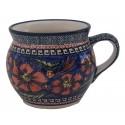 Polish Pottery CHERISHED FRIENDS 16-oz Stoneware Bubble Mug | UNIKAT