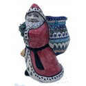 "Polish Pottery Vena WINTER MAGIC 8"" Stoneware Santa with Bag"
