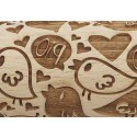 "4.5"" Embossing Rolling Pin Love Birds"