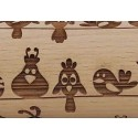 """4.5"""" Embossing Rolling Pin Wired Birds"""