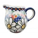 Polish Pottery REJUVENATE Kubus 6-oz Stoneware Milk Jug   A-UNIKAT
