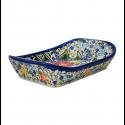 Polish Pottery EXOTIC Stoneware Flared Dish | A-UNIKAT