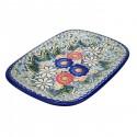 Polish Pottery EXOTIC Stoneware Rectangular Platter (LG) | A-UNIKAT