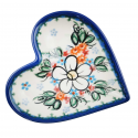 Polish Pottery ADORABLE Stoneware Heart Plate (SM) | A-UNIKAT