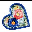 Polish Pottery EXOTIC Stoneware Heart Plate (SM) | A-UNIKAT