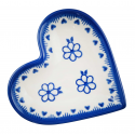 Polish Pottery FRENCH GRAY Stoneware Heart Plate (SM) | A-UNIKAT