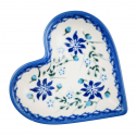 Polish Pottery STAR GAZER Stoneware Heart Plate (SM) | A-UNIKAT