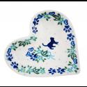Polish Pottery MEOW Stoneware Heart Plate (SM) | UNIKAT