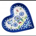 Polish Pottery WINSOME Stoneware Heart Plate (SM)   UNIKAT