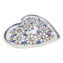 Polish Pottery REJUVENATE Stoneware Heart Plate (LG) | A-UNIKAT