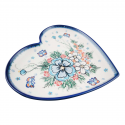 Polish Pottery ADORABLE Stoneware Heart Plate (LG) | A-UNIKAT