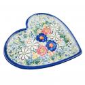 Polish Pottery EXOTIC Stoneware Heart Plate (LG) | A-UNIKAT
