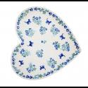 Polish Pottery MEOW Stoneware Heart Plate (LG) | UNIKAT
