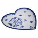Polish Potery FRENCH GRAY Stoneware Heart Plate (MD) | CLASSIC