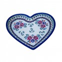 Polish Potery SIMPLE FOLK Stoneware Heart Plate (MD) | UNIKAT