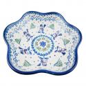 Polish Pottery SNOWMAN UNIKAT Stoneware Boho Bowl (MD) | A-UNIKAT