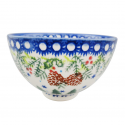 Polish Pottery SWISS SEASON Stoneware Rice Bowl-(SM)   CLASSIC