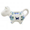 Polish Pottery MEOW Stoneware Cow Creamer (LG)| UNIKAT