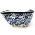 Polish Pottery TRUE BLUES Stoneware Batter Bowl | ARTISAN